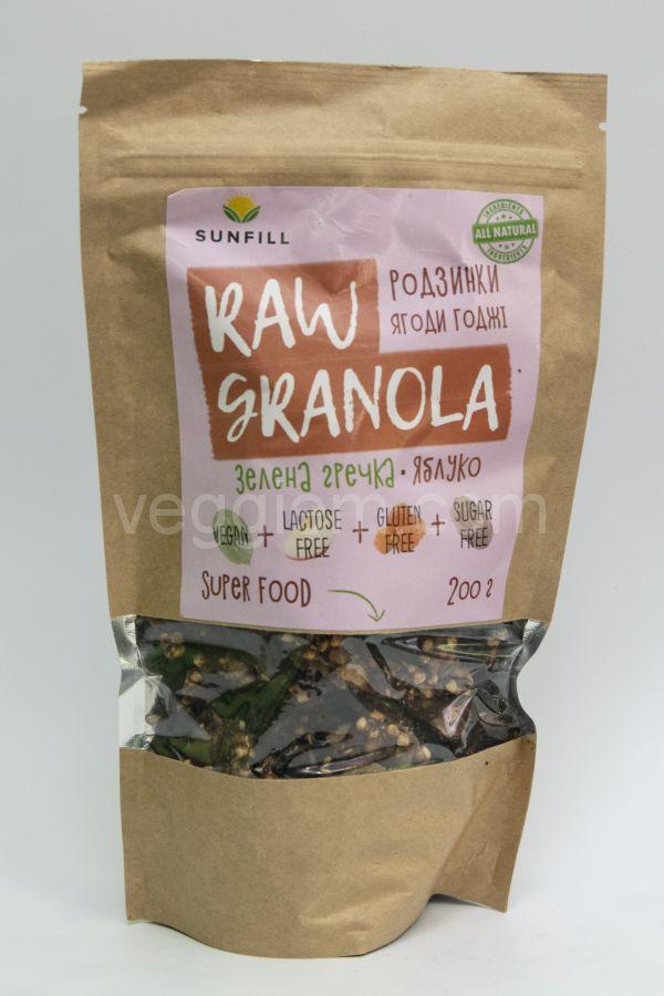 Гранола с изюмом и ягодами Годжи Sunfill,200 грамм