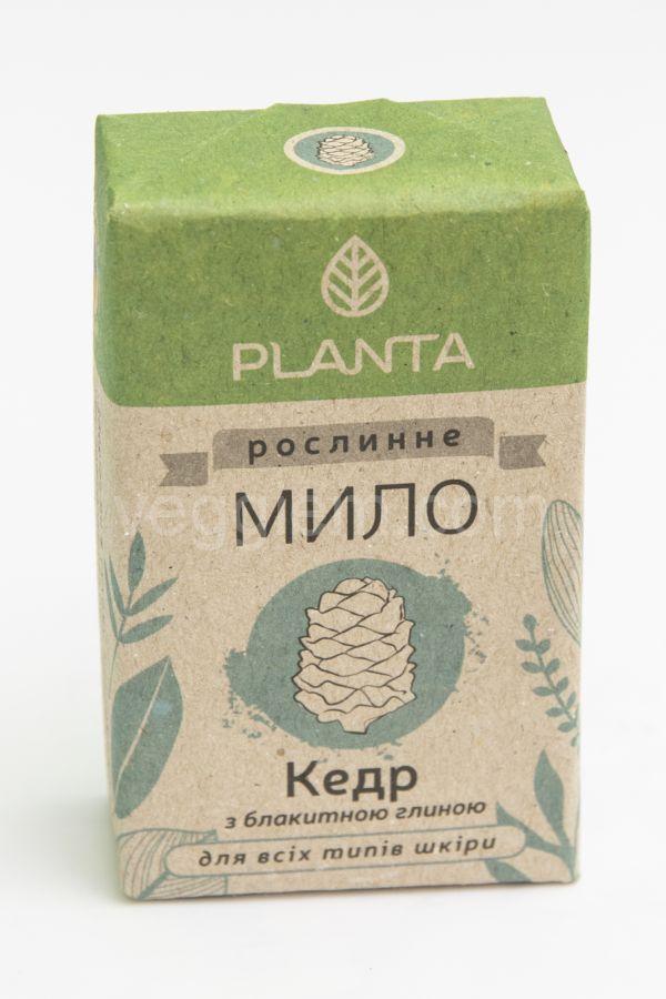 Мыло с голубой глиной Кедр,  Planta