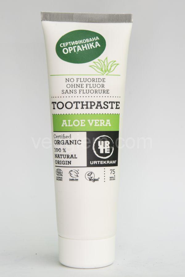 Органическая зубная паста с Алое Вера Urtekram,75 мл