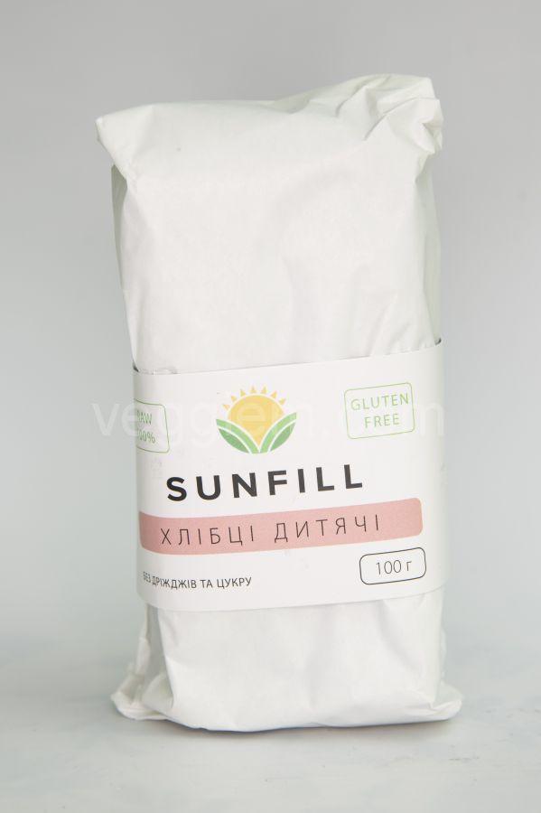 Сыроедческие хлебцы Детские Sunfill, 100 грамм