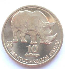 Носорог 10 шиллингов Биафра 2020