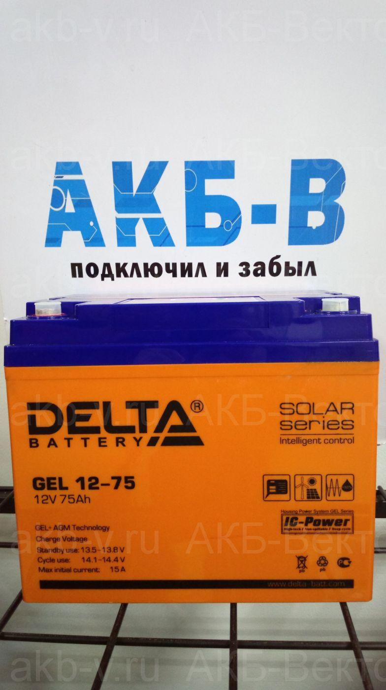 Delta GEL 12-75 (75Ач)