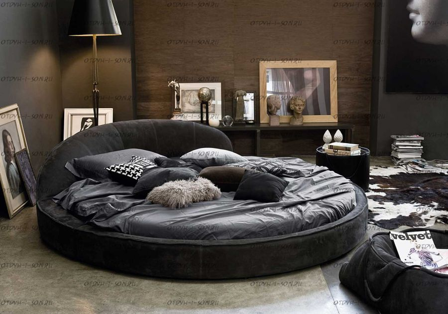 Кровать круглая Амстердам 1060 (б/о)
