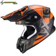 Шлем Scorpion VX-16 Air Oratio, Серо-оранжевый