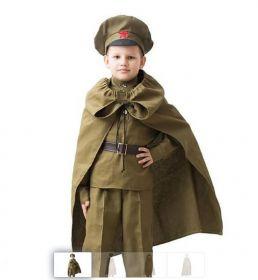 Детская военная плащ-палатка, 8-10 лет к 9 мая