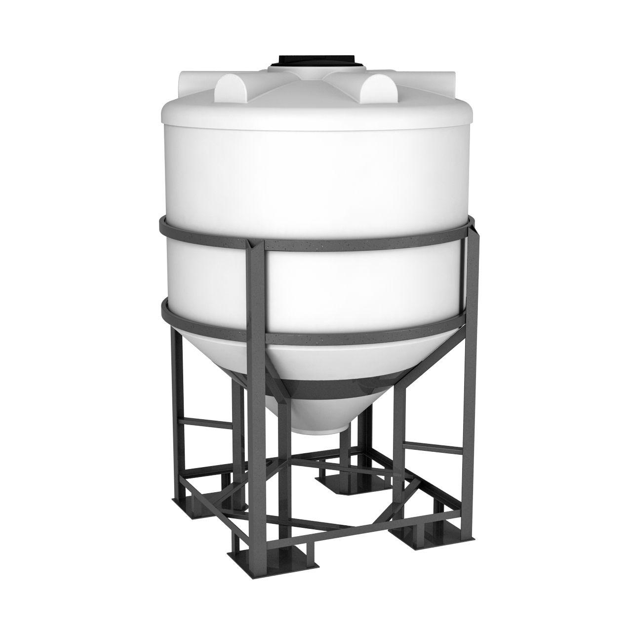 Емкость конусная 1000 литров ФМ в обрешетке
