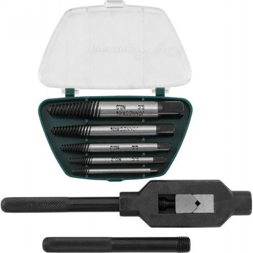 AG010110 Набор экстракторов спиральных конических с держателем 7 предметов.