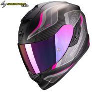 Шлем Scorpion EXO 1400 Air Attune, Черный матовый с розовым