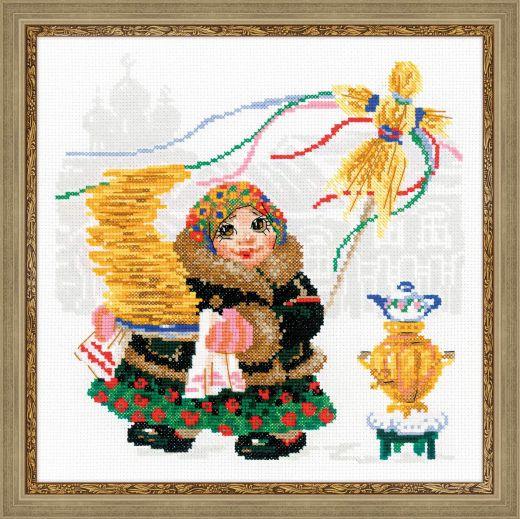Набор для вышивания крестом Масленица. Блины №1518 фирма Риолис