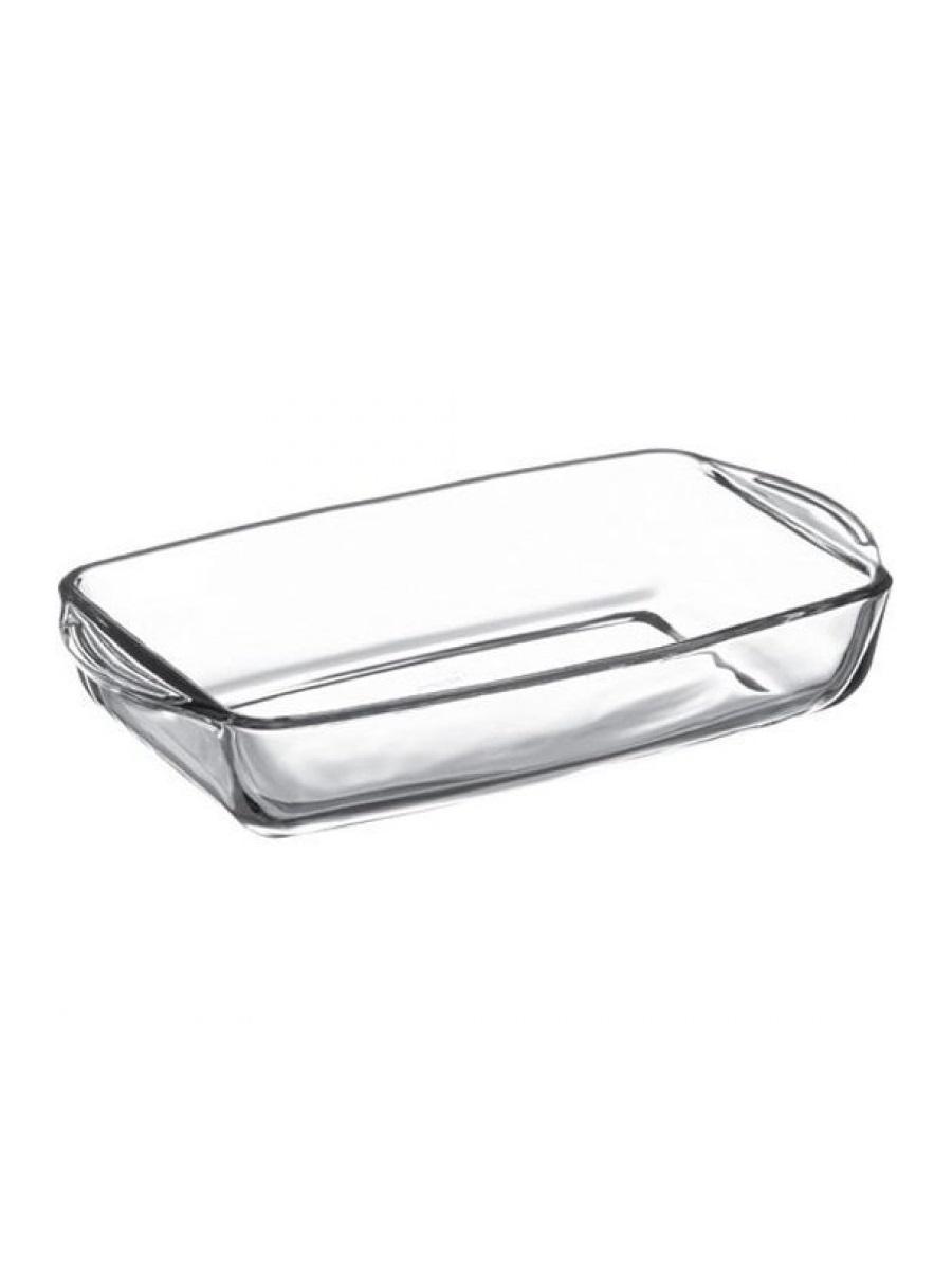 Форма для выпечки жаропрочная стеклянная прямоугольная 1,95 литра Borcam 59006 лоток прямоугольный 33,6х19х5 см кор 1/2