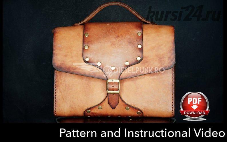 Портфель из кожи «Messenger Bag» [DieselpunkRo]