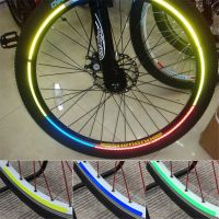 Наклейки на обод велосипеда светоотражающие 8 шт_1