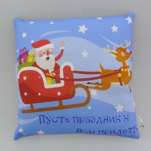 Подушка-игрушка декор. Праздник 15 40х40 см, габардин, синтетич.волокно, 160 гр/м, пэ 100%   3675049