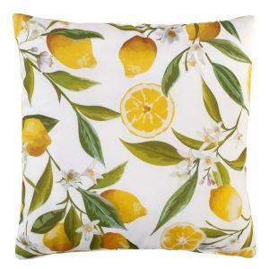 Подушка декоративная Лимоны 40х40 см, габардин, 100% п/э   4516214