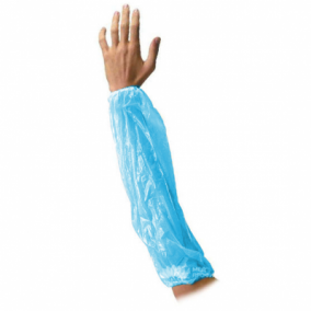 Нарукавник полиэтилен, 40x22, 75 пар в пачке, цвет голубой