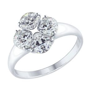 Кольцо из серебра со Swarovski Zirconia 89010103 SOKOLOV