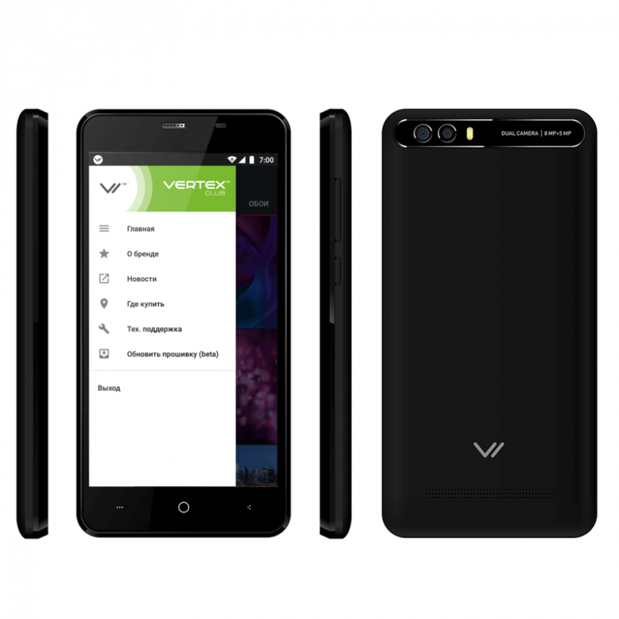 Смартфон Vertex Impress Lion dual cam (3G)