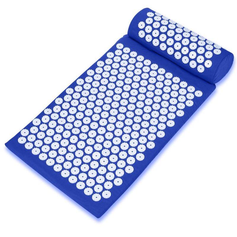 Акупунктурный массажный комплект Acupressure Mat (цвет синий)