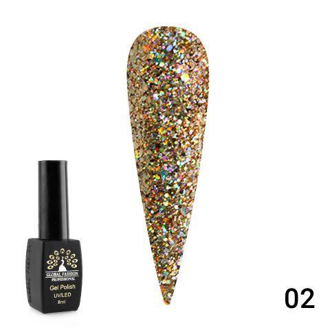 Гель лак Diamond Ball 8мл Global Fashion 02