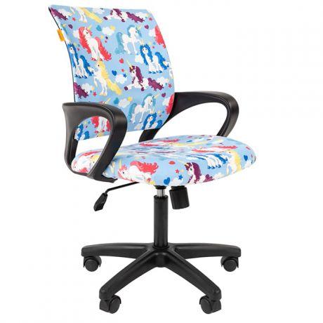 Кресло детское Chairman Kids 103, PL черн., ткань велюр, механизм качания спинки