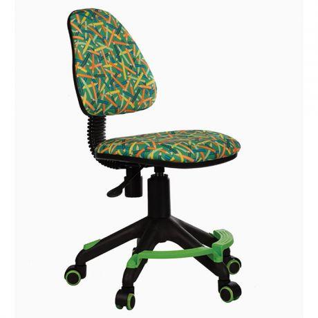 Кресло детское Бюрократ KD-4-F/PENCIL-GN зеленый, карандаши, без подлокотников