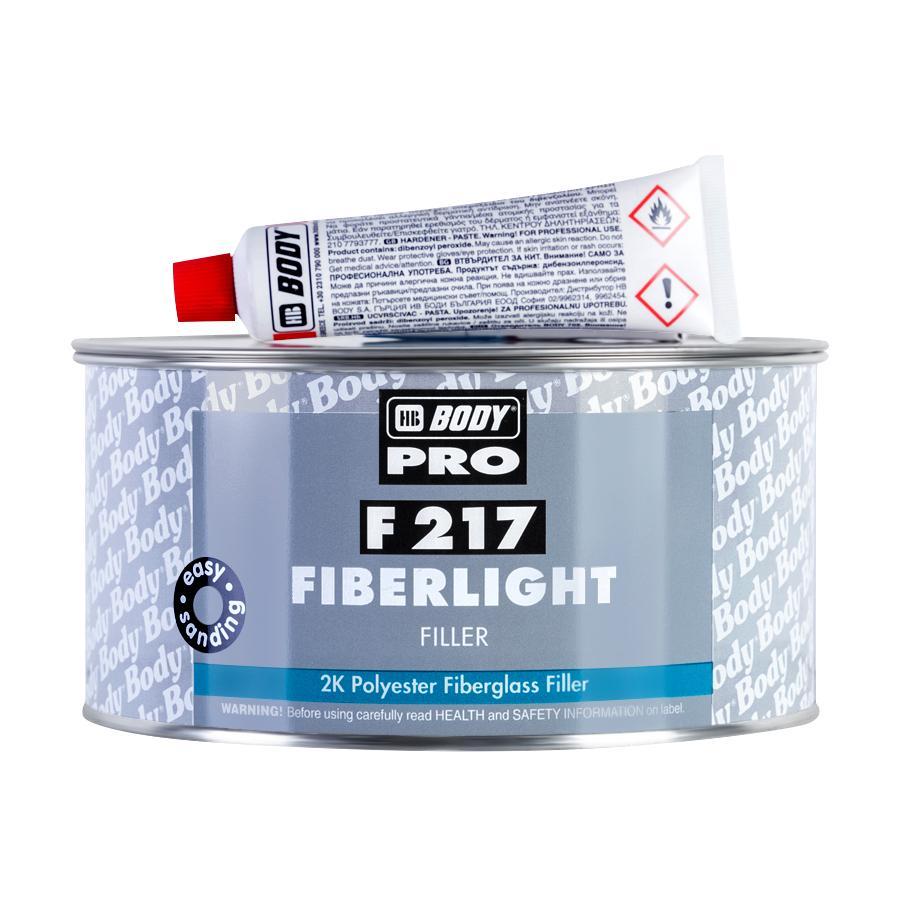 Шпатлевка BODY PRO F217 Fiberlight 1 л.