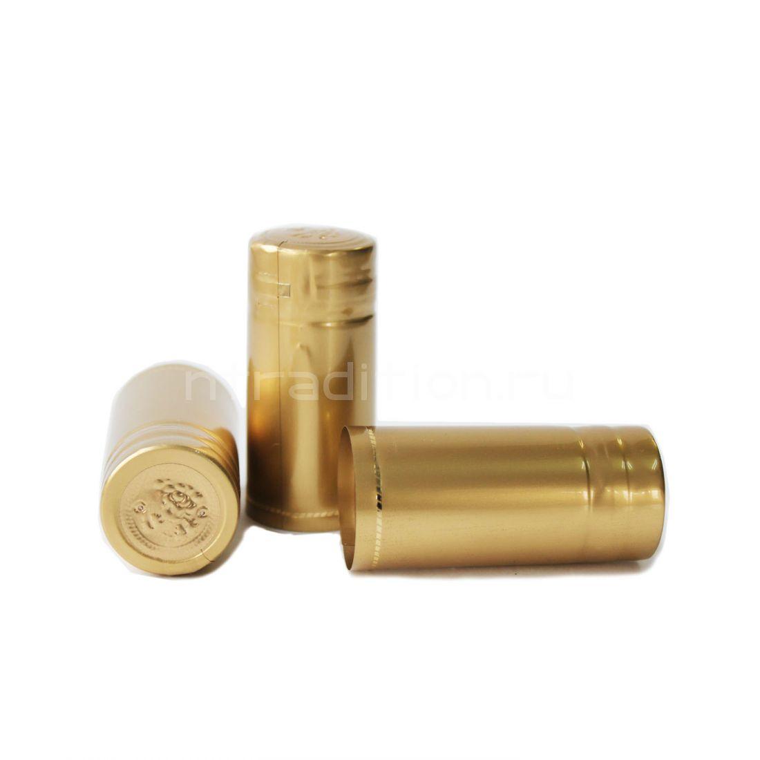 Термоусадочные колпачки 65 мм, 40 шт. (золото)