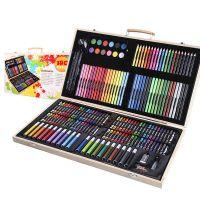 Набор для рисования в деревянном чемоданчике 180 предметов_1
