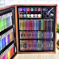 Набор для рисования в деревянном чемоданчике 150 предметов_3