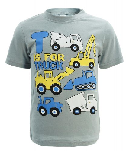 "Футболка для мальчика 1-4 года Dias kids ""Is for Truck"" серая"