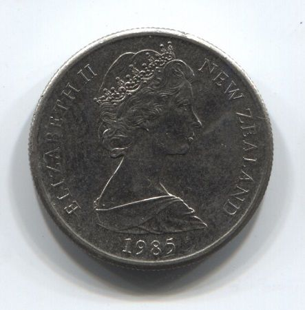 5 центов 1985 года Новая Зеландия XF+