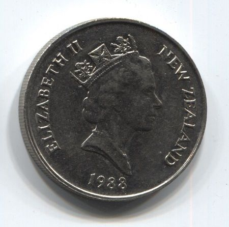 10 центов 1988 года Новая Зеландия
