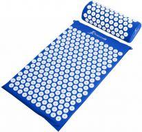 Акупунктурный массажный комплект из коврика и валика Acupressure Mat, синий