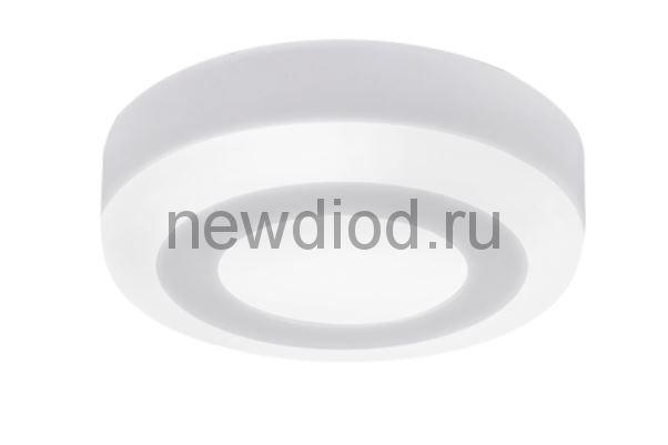 Панель светодиодная круглая накладная NRLP-BL 6Вт 230В 4000К 350Лм 105мм с подсветкой белая IP20 IN