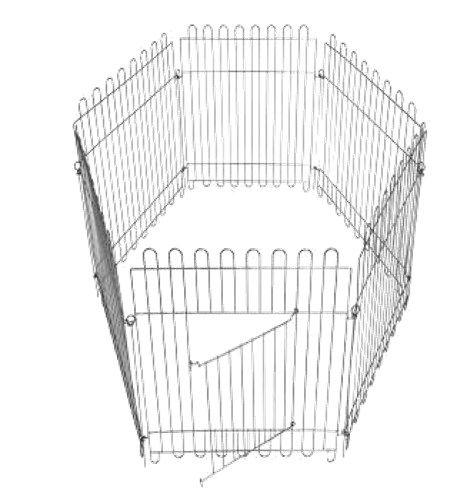 Вольер для собак щенков 6х65х95 см