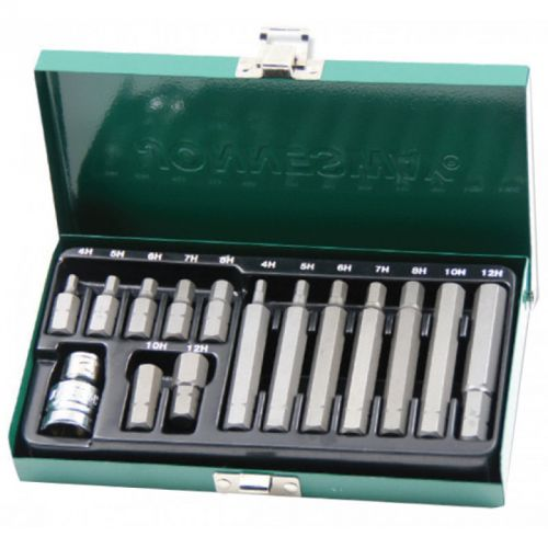 S29H4115S Набор вставок-бит 10 мм шестигранных Н4-12 мм. (30 и 75 мм), 15 предметов