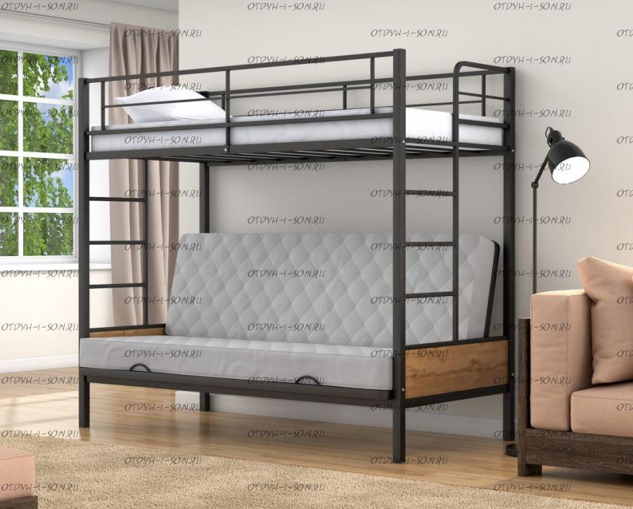 Кровать двухъярусная с диваном Дакар 1 Лофт