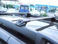 Багажник на крышу Renault Duster II (2015-...), аэродинамические дуги на рейлинги (черный цвет)