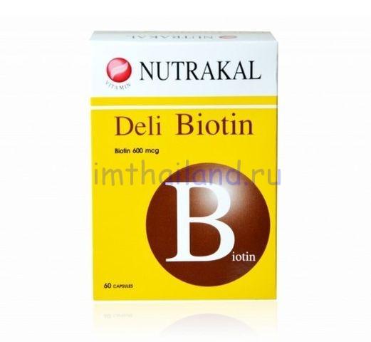 Биотин (biotin) для волос витамины 60 капсул