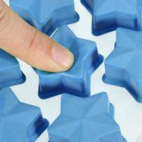 Форма для льда силиконовая Звёздочки (цвет голубой)_4