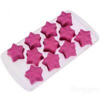 Форма для льда силиконовая Звёздочки (цвет розовый)_2