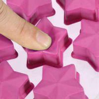 Форма для льда силиконовая Звёздочки (цвет розовый)_4