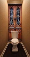 Фотообои в туалет - Без стука не открывать Интерьерные наклейки