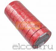 Изолента профессиональная 0.18 х 19 мм х 20м красная REXANT