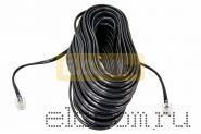 Телефонный удлинитель 10 м черный REXANT