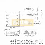 Батарейный отсек 4 х 18650 Li-ion (на плату)