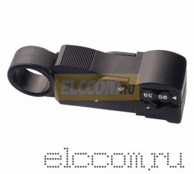 Инструмент для зачистка коаксиального кабеля (3 ножа) RG-58, RG-59, (HT-312) (CT-312B) REXANT