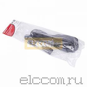 Удлинитель шнур 30м (1 роз.) 3х0.75 с заземлением черный REXANT (Сделано в РОССИИ)