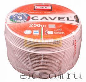 Кабель SAT 50м+CU/CU (75 Ом) 250м белый CAVEL