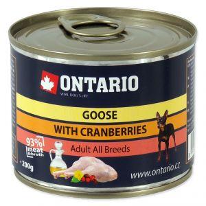 Ontario Консервы для собак: гусь и клюква 200 гр.